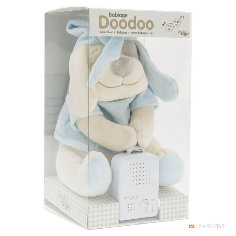 Умная игрушка Doodoo Babiage Собачка голубая фото