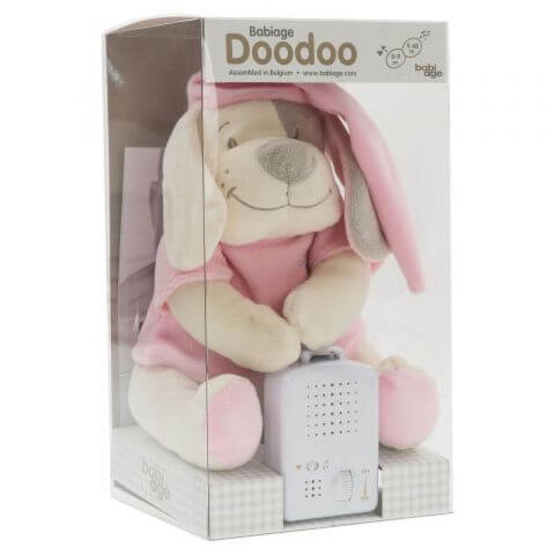 Умная игрушка Doodoo Babiage Собачка розовая фотографии