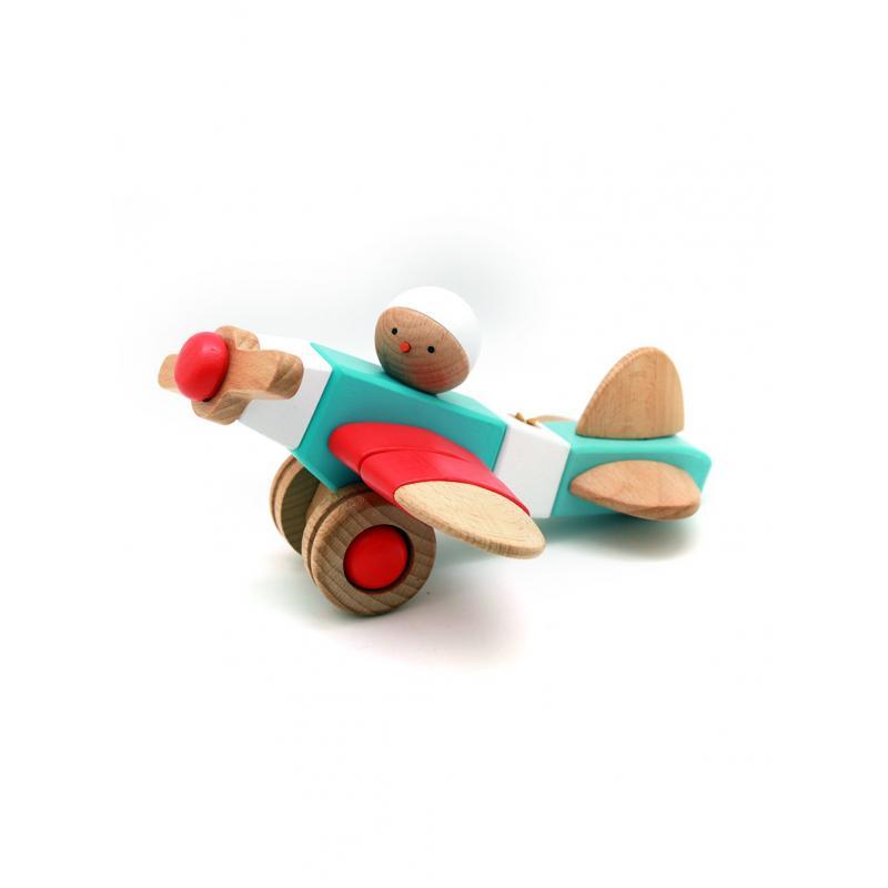 Деревянный конструктор EQB - Мальчик-Пилот фото