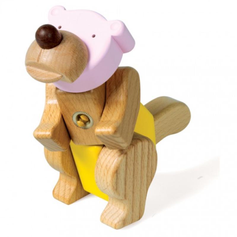Деревянный конструктор EQB - Медведь фото