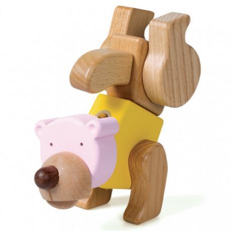 Деревянный конструктор EQB - Медведь