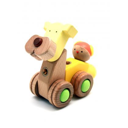 Деревянный конструктор EQB - Щенок