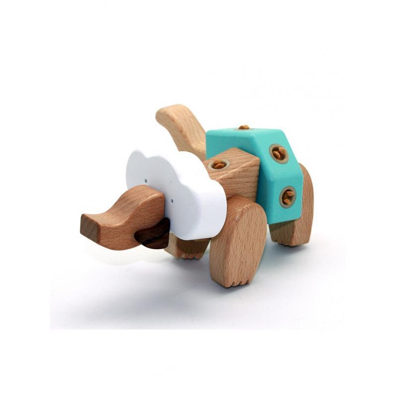 Деревянный конструктор EQB - Слон фото