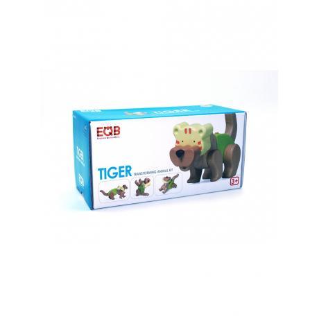 Деревянный конструктор EQB - Тигр