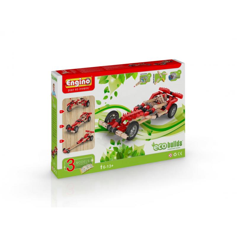 Конструктор Engino Eco Builds - Гоночные машины с мотором фото