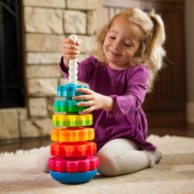 Вращающаяся пирамидка Fat Brain Toys - SpinAgain фото