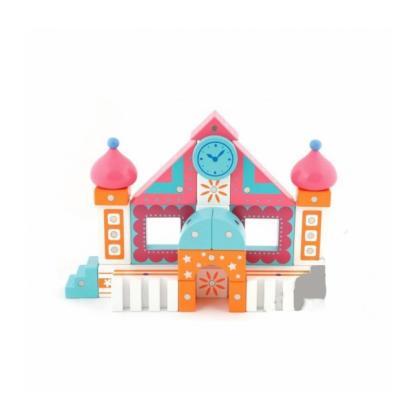 Магнитный конструктор Genii Creation - Дом розовый