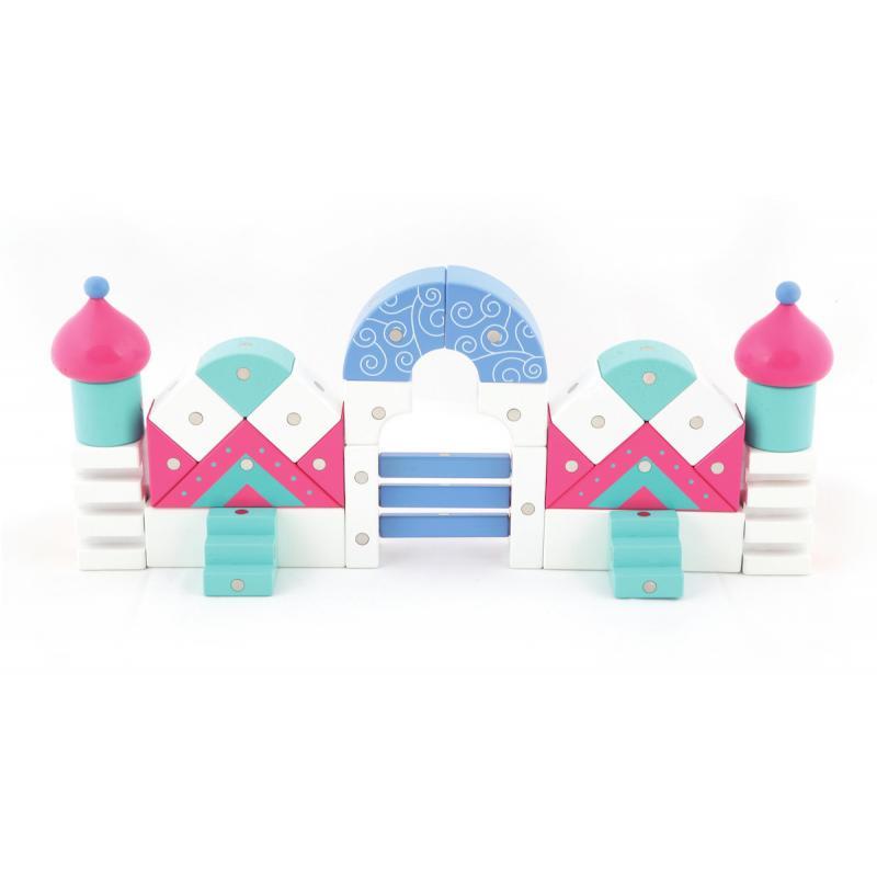 Магнитный конструктор Genii Creation - Дом розовый фото