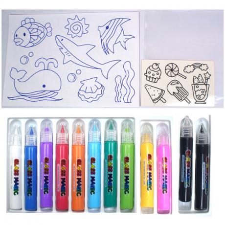 Игровой набор для рисования витражей Glass Magic Сладости