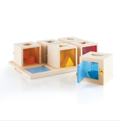 Сортер Peekaboo Lock Boxes Запирающиеся коробочки Пикабу