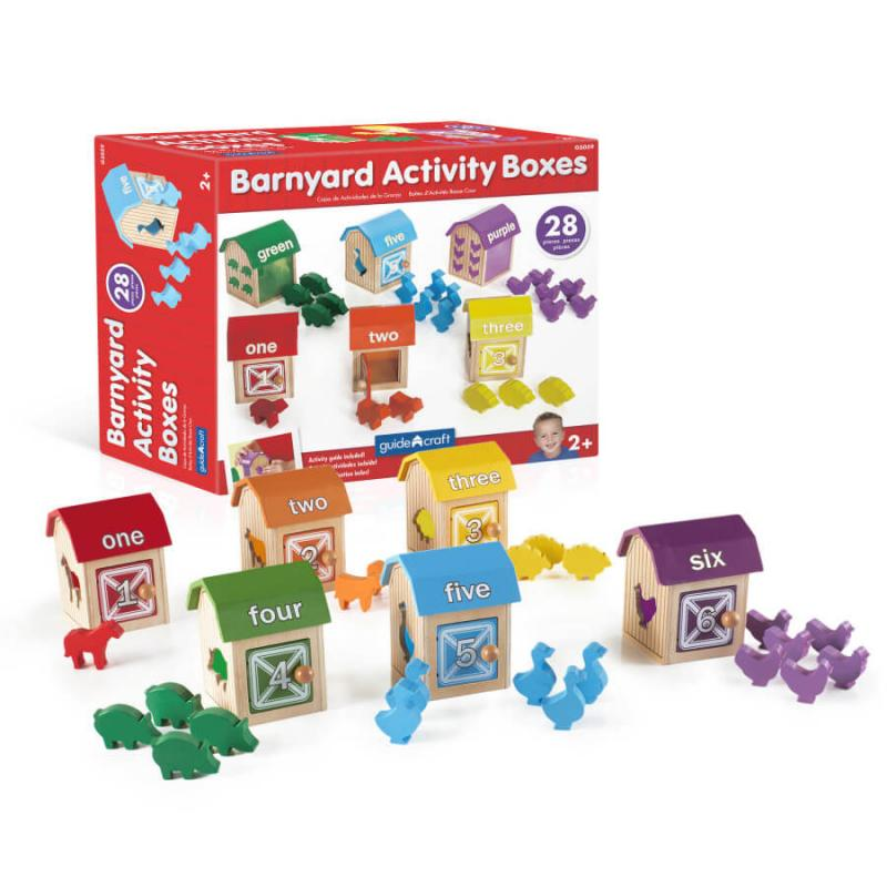 Сортер GuideCraft Barnyard Activity Boxes Ферма фото