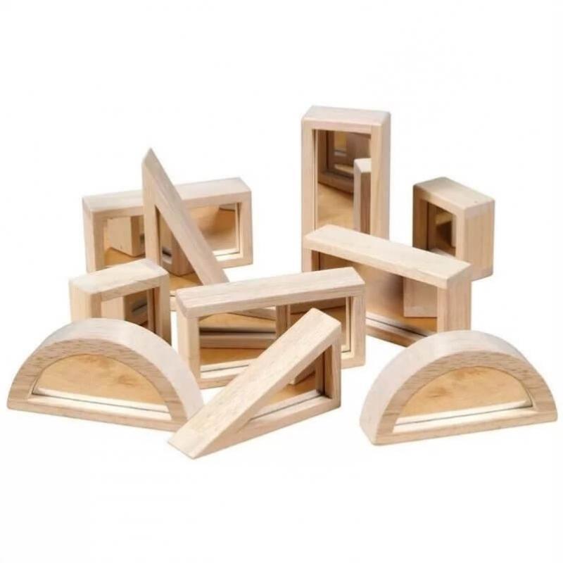 Деревянный конструктор GuideCraft Mirror Blocks - Зеркальные блоки 10 фото