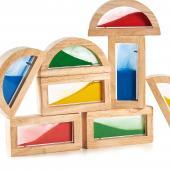 Деревянный конструктор GuideCraft Rainbow Blocks - Пески