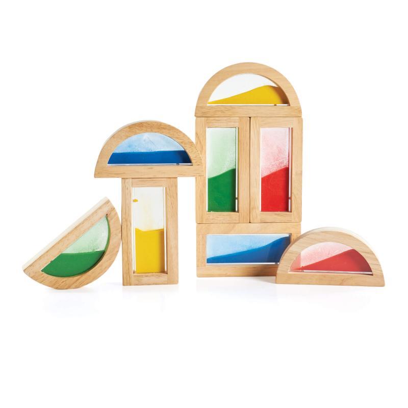 Деревянный конструктор GuideCraft Rainbow Blocks - Пески фото