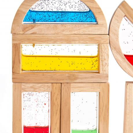 Деревянный конструктор GuideCraft Rainbow Blocks - Мерцающая вода