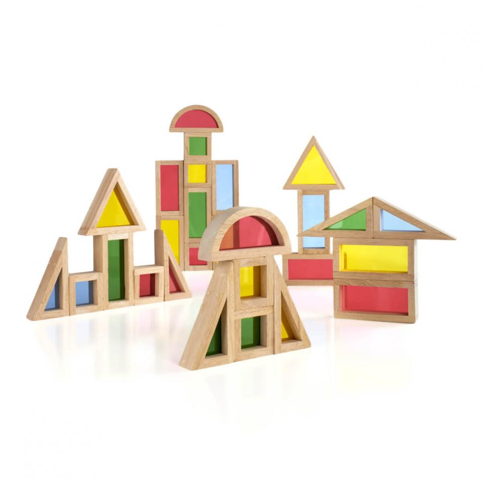 Деревянный конструктор GuideCraft Rainbow Blocks - Радужные блоки 30