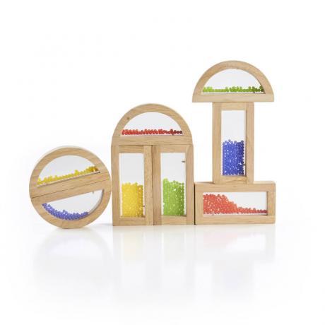 Деревянный конструктор GuideCraft Rainbow Blocks - Кристальные бусинки