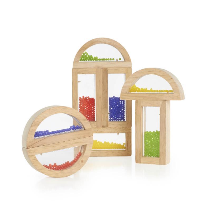 Деревянный конструктор GuideCraft Rainbow Blocks - Кристальные бусинки фото