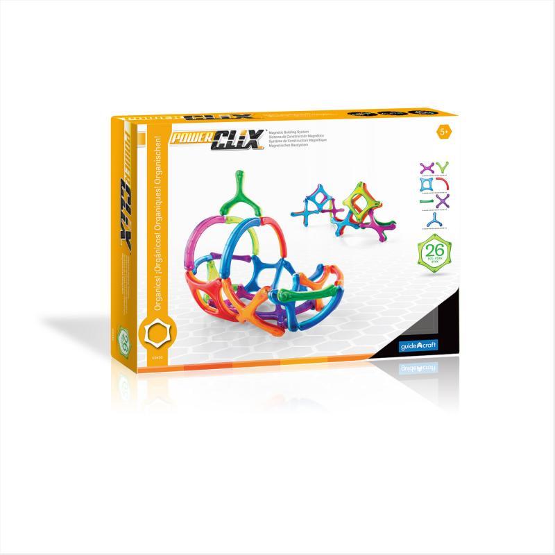 Магнитный конструктор GuideCraft PowerClix® - Organics 26 фото
