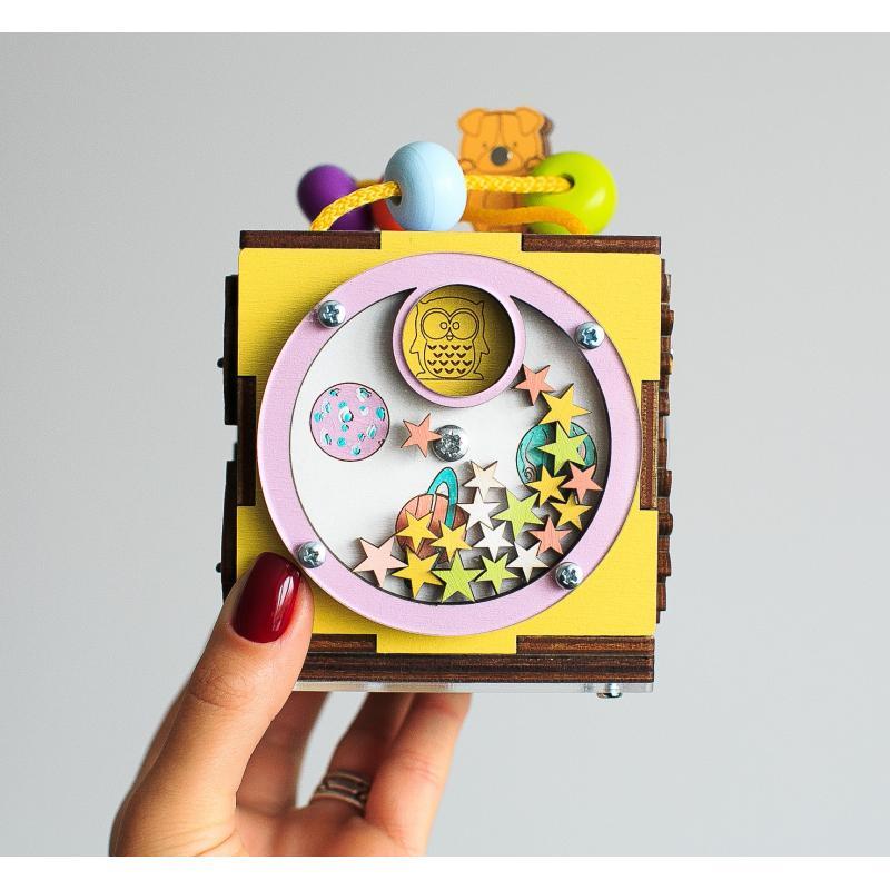 Бизикуб MINI цветной фото
