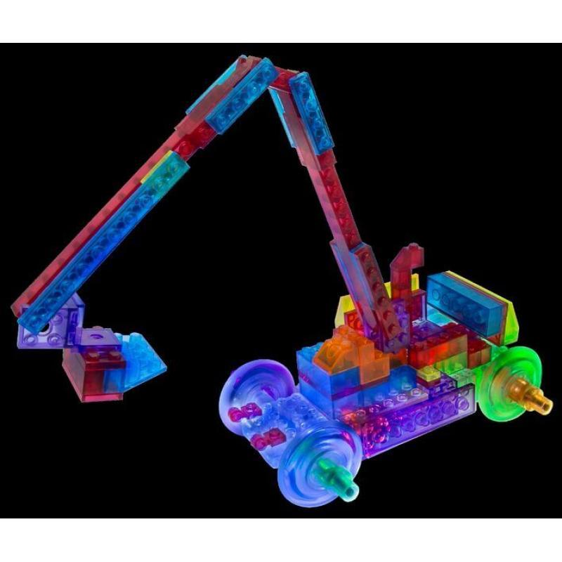 Светящийся конструктор Laser Pegs - Бульдозер 8 в 1 фото