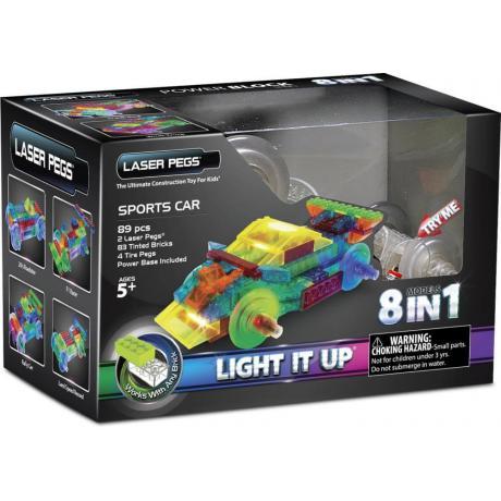 Светящийся конструктор Laser Pegs - Энергоблок Машина 8 в 1