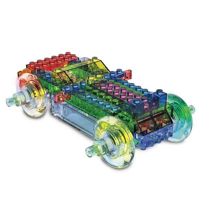 Светящийся конструктор Laser Pegs - Энергоблок Машина 8 в 1 фото