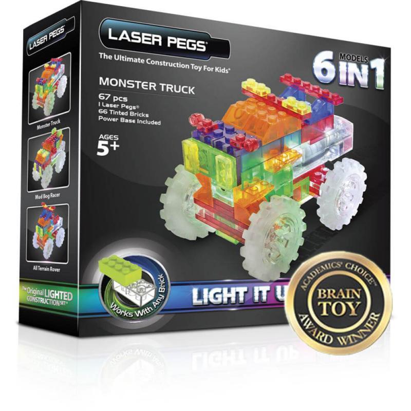 Светящийся конструктор Laser Pegs - Гигантcкий грузовик 6 в 1 фото