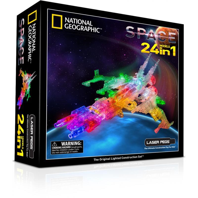Светящийся конструктор Laser Pegs - Космос 24 в 1 фото
