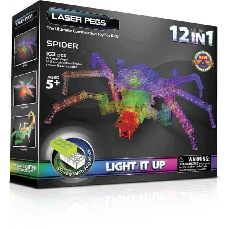 Светящийся конструктор Laser Pegs - Паук 12 в 1 фото