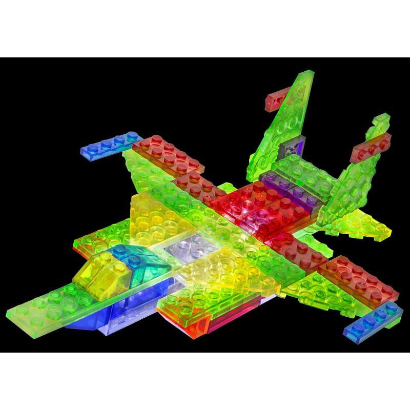 Светящийся конструктор Laser Pegs - Самолёт 6 в 1 фото