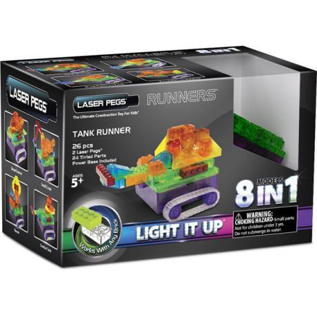 Светящийся конструктор Laser Pegs - Танк 8 в 1