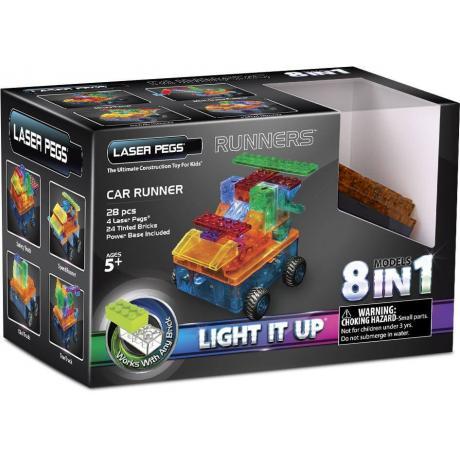Светящийся конструктор Laser Pegs - Военная машина 8 в 1