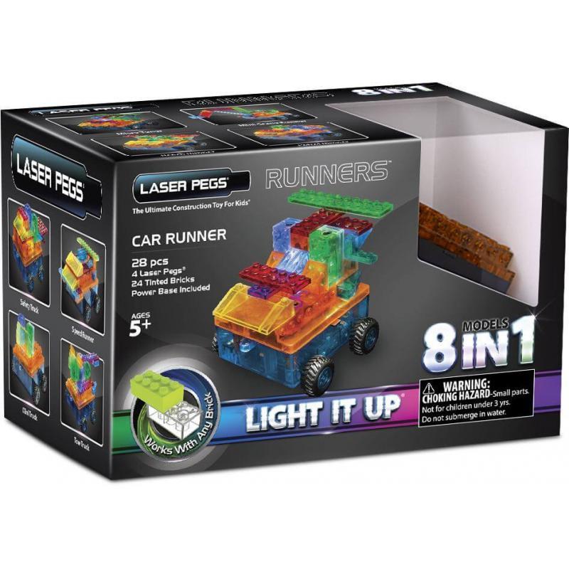 Светящийся конструктор Laser Pegs - Военная машина 8 в 1 фото