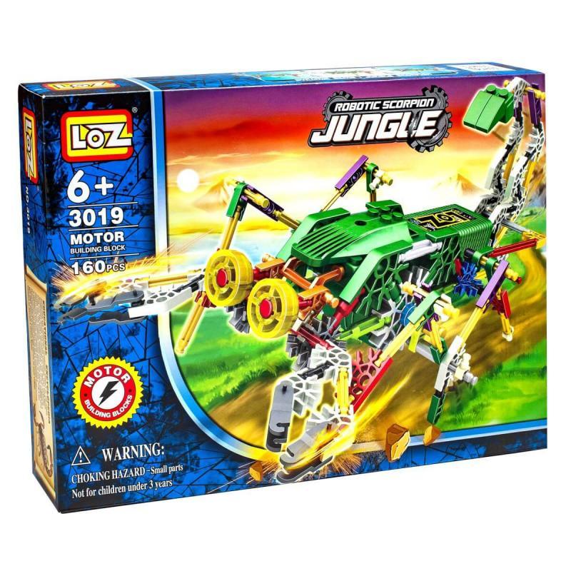 Электромеханический конструктор Loz Jungle IRobot - Скорпионозавр фото