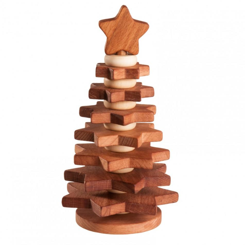 Пирамидка Леснушки - Елочка, покрытая льняным маслом