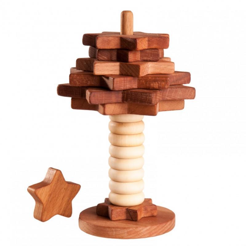 Пирамидка Леснушки - Елочка, покрытая льняным маслом фото