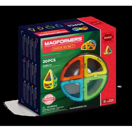 Магнитный конструктор MAGFORMERS Curve Set 20