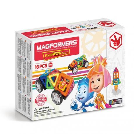 Магнитный конструктор MAGFORMERS Fixie Wow Set