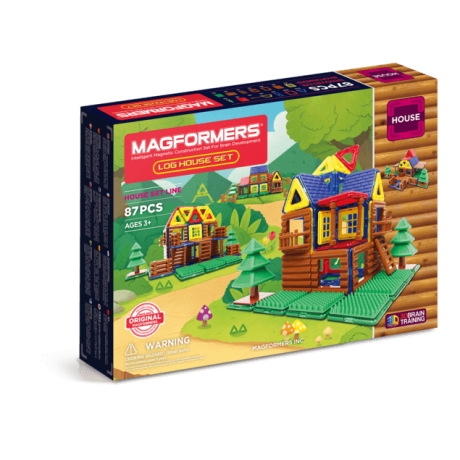 Магнитный конструктор MAGFORMERS Log House Set