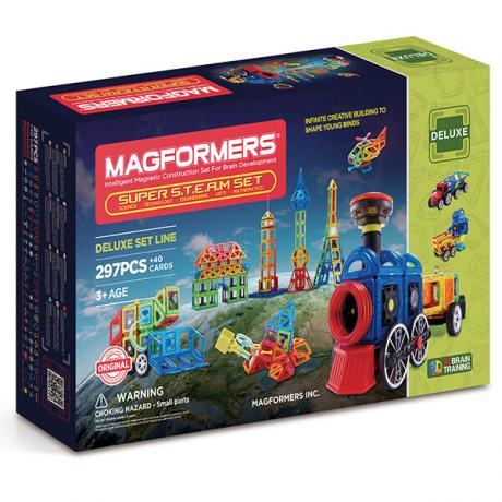 Магнитный конструктор MAGFORMERS Super Steam Set