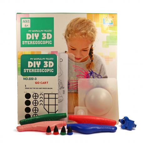 3D Magic Glue (4 ручки в наборе) - трафарет Пегас