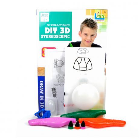 3D Magic Glue (3 ручки в наборе) - трафарет Пришельцы