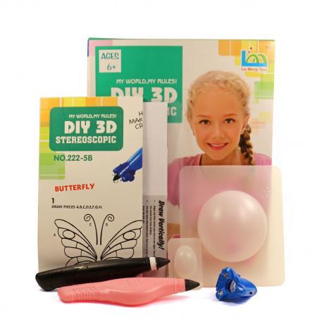 3D Magic Glue (2 ручки в наборе) - трафарет Бабочка