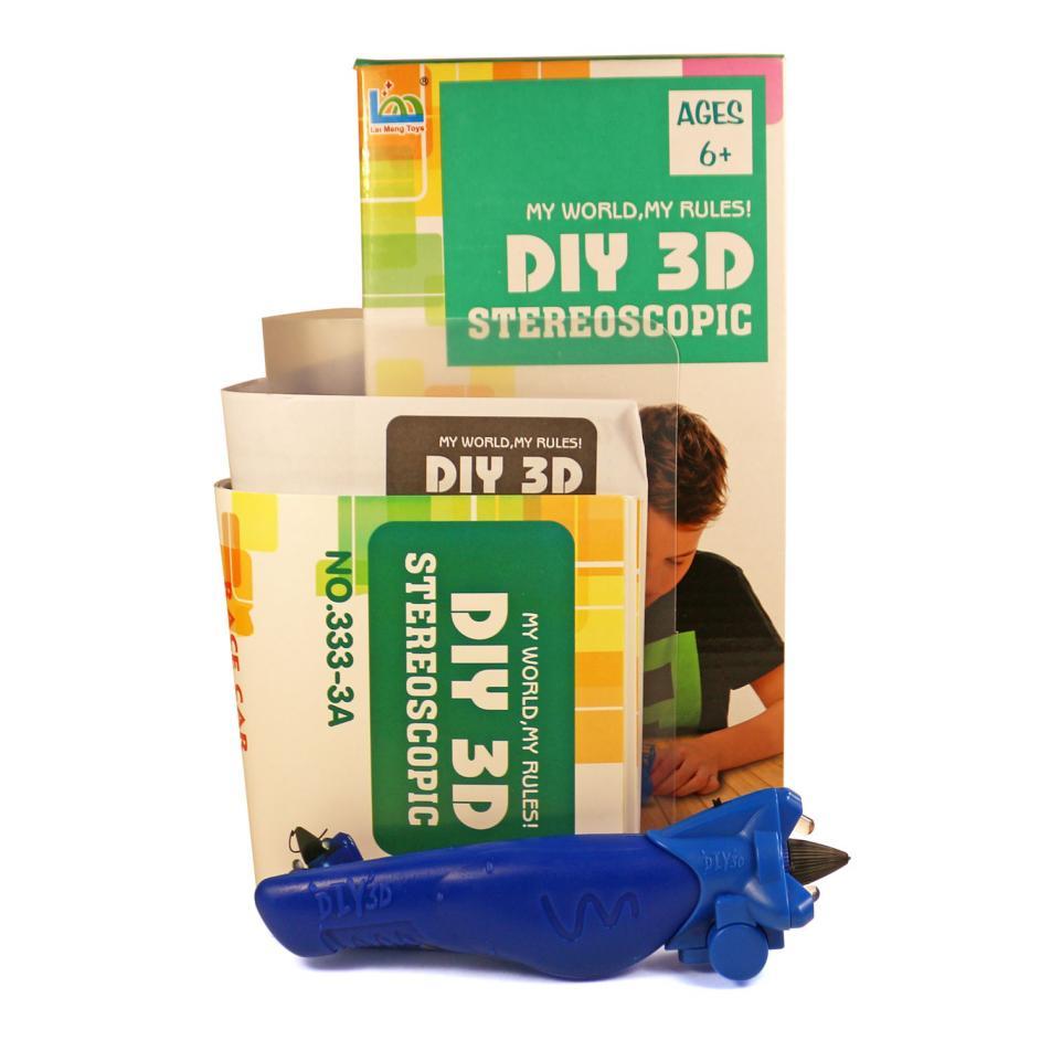 3D Magic Glue (1 ручка в наборе) - трафарет Машинка