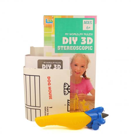 3D Magic Glue (1 ручка в наборе) - трафарет Домик собачки