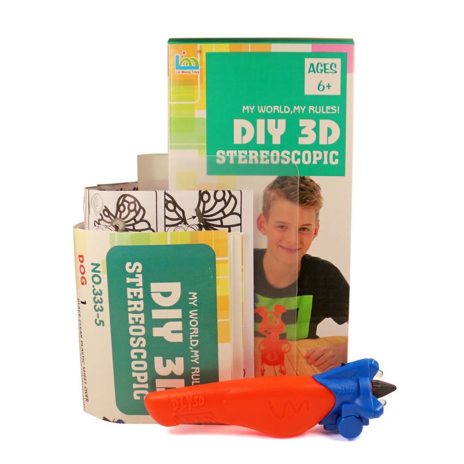 3D Magic Glue (1 ручка в наборе) - трафарет Поросенок