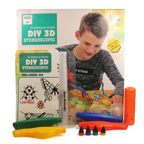 3D Magic Glue (4 ручки в наборе) - трафарет Динозавр