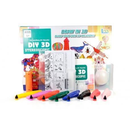 3D Magic Glue (8 ручек в наборе) - трафарет Эйфелева башня, триумфальная арка