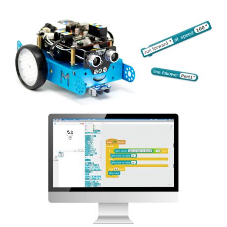 Робототехнический конструктор mBot V1.1-Blue(Bluetooth Version)